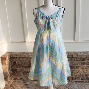 ModCloth Anthropologie pastel bow top dress L